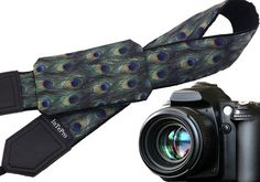 Camera strap with peacock feather pattern. Camera accessories that can be monogrammed.  More Animal camera straps wait you here: https://www.etsy.com/shop/InTePro?ref=hdr_shop_menu&search_query=animals  If you decide to choose another design camera strap with pocket, please take a look here: https://www.etsy.com/shop/InTePro/items?ref=hdr_shop_menu&search_query=pocket   --- Product description ---  This adorable camera ...