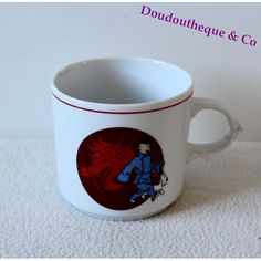 Mug porcelaine Tintin TABLES & COULEURS Le Lotus bleu tasse dragon