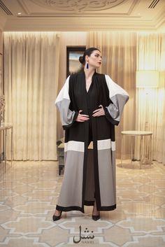 NASHEL ABAYA  #nashel #abaya Arab Fashion, Muslim Fashion, Modest Fashion, Fashion Dresses, Model Baju Hijab, Chic Choc, Dubai Fashionista, Abaya Pattern, Modern Abaya