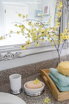Bathroom Makeovers Better Homes And Gardens a master bathroom stagedencore home staging and redesign