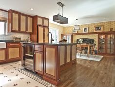 two tone bi color stain kitchen cabinets | kitchen cabinets