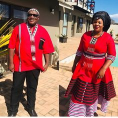 Xhosa Attire, African Attire, African Wear, African Dress, African Fashion Traditional, Traditional Outfits, Traditional Wedding, Wedding Dresses South Africa, Colored Wedding Dresses