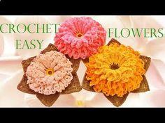 Aprende a Tejer Flores en una sola tira ~ Super Fácil / Tutorial | Todo crochet