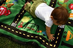 Oh my goodness what an amazing project!  Of course this is a fabulous idea!!!  Fabric applique for a gorgeous playmat!  *ok too many exclamation points...no!!!!!! ;)* fabric-projects