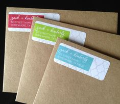 Personalized Moroccan Return Address Labels