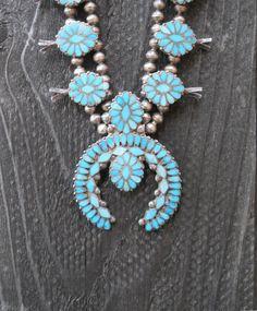 Zuni Dishta squash blossom necklace