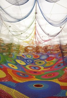 Crocheted Playgrounds by Toshiko Horiuchi MacAdam | 22 Dreamy Art Installations You Want To Live In