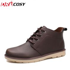 New Arrival High Quality Pu Leather Men Boots British Vintage Style Martin Boots Casual Men Tooling Shoes Ankle Botas Size Casual Boots, Men Casual, Vintage Style, Vintage Fashion, Men Boots, Martin Boots, Leather Men, Safety, British