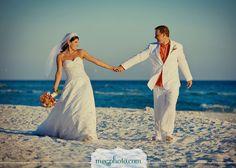 #beach wedding #bride and groom