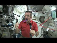 Astronaut Chris Hadfield demonstrates how to your teeth in space | CSA ISS Science #k12