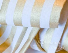 Stripe in Metallic Gold Print Quilting Weight by AACottonCreations