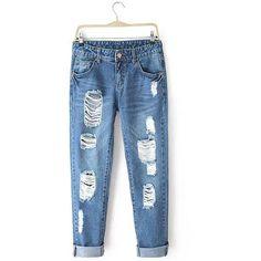 Boyfriend Jeans (€74) ❤ liked on Polyvore featuring jeans, pants, bottoms, denim, blue, blue jeans, boyfriend fit jeans, boyfriend jeans, denim jeans and blue denim jeans
