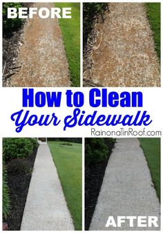 How to clean a sidewalk - AWESOME cleaning tip!