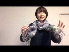 薄手のストールを簡単にオシャレに巻く方法 - YouTube
