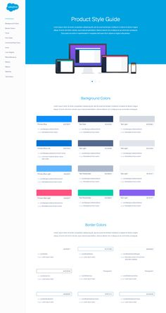 Salesforce UX Product Style Guide / Thanh Quach