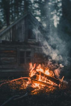 Wood Fire Outside The Cabin autumn fall autumn pictures fall pictures fall images autumn images images of fall pictures of fall Fire Photography, Camping Photography, Portrait Photography, Haus Am See, Christmas Aesthetic Wallpaper, Cabin In The Woods, Camping Life, Tent Camping, The Great Outdoors