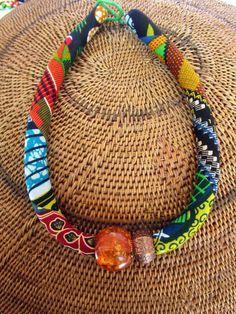 """Collier Chunky / African """"BOLD"""" de bijoux / tissu du cordon collier, bijoux ethniques, collier Bib, collier coloré"""