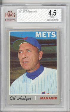 BGS BVG 4 5 VG EX 1970 Topps 394 Gil Hodges Brooklyn Dodgers NY Mets HOF | eBay