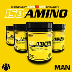 """Can you think of any BCAA powders from major brands that *only* contain the BCAAs?  Official MAN Sports said """"enough of that"""" and is creating MAN ISO-Amino: https://blog.priceplow.com/supplement-news/man-iso-amino  2:1:1 BCAAs, flavoring, and hopefully nothing else!  #BCAA #MANISOAmino #ISOAmino"""