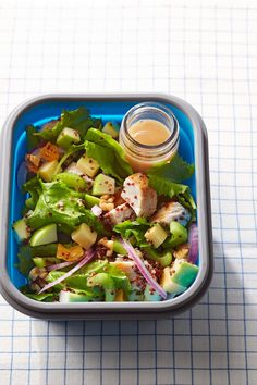 Granny Smith apple, Gouda cheese, and dried fruit give this tasty grain salad its complex flavor. (Psst ... you can totally make this with leftover or rotisserie chicken instead of turkey if that's what you have on hand.) #lunchrecipes #lunchideas #easylunchideas #bhg Healthy Packed Lunches, Make Ahead Lunches, Healthy Salads, Healthy Recipes, Cold Lunches, Healthy Eating, Lunch Recipes, Pasta Recipes, Appetizer Recipes