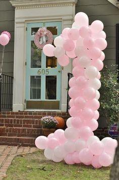 Birthday. Cute birthday idea using balloons #party #birthday by 123abc