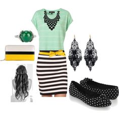 polyvore Casual work outfit styled-by-me