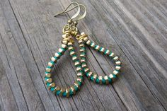 Zipper Earrings   Teal by kschultz1 on Etsy, $8.00