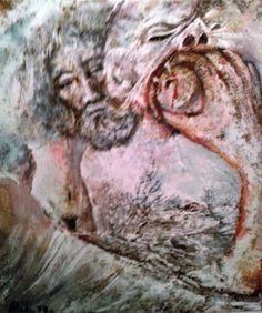 Represión, óleo nº 3 original de Rudi Serie S. XX
