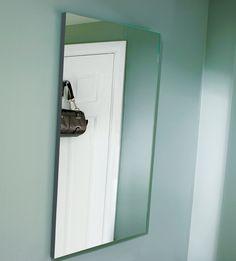Framless bathroom mirror from Utopia Bathrooms.