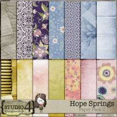 Hope Springs - Paper by Designworks Never Lose Hope, Paper Packs, Spring Theme, All Paper, Site Design, Beach Day, Pattern Paper, Traditional Art, Digital Scrapbooking