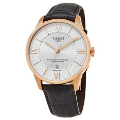 Tissot Men's T099.407.36.038.00 'T-Classic' Dial Brown Strap Swiss Automatic Watch