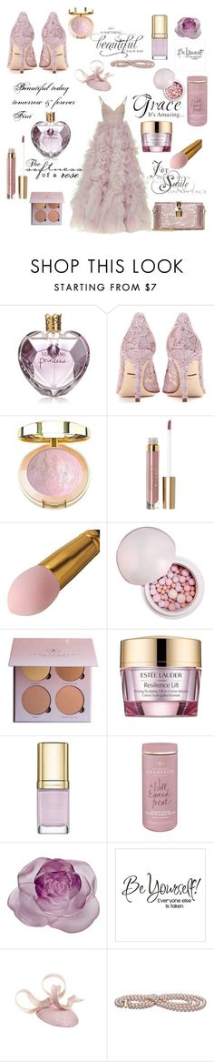 """""""Beautiful forever"""" by fini-i ❤ liked on Polyvore featuring Vera Wang, Dolce&Gabbana, Stila, Guerlain, Estée Lauder, Daum and WALL"""