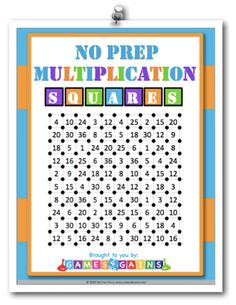 Looking for a FREE, no-prep multiplication game that you can use in your math centers tomorrow? Visit games4gains.com and subscribe to the mailing list to get your free game, and to hear about all of our latest offers!