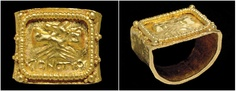A ROMAN GOLD MARRIAGE RING CIRCA 3RD CENTURY A.D.