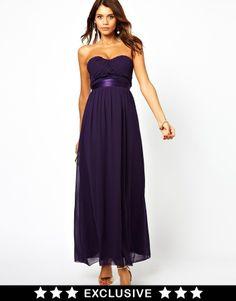 Elise Ryan Bandeau Maxi Dress with Satin Waist on shopstyle.co.uk