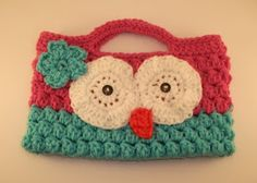 ctochet child owl purse