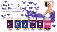 May is Women's National Awareness month! Stay Healthy Stay Beautiful with Superior Source Vitamins! Win $90 prize pack #ad
