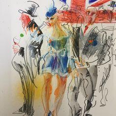 Derby Race goers ....#epsomderby #racing #horseracing #betting #drawing #pencil #studiospilsbury #CarandAche #illustrator #fashion