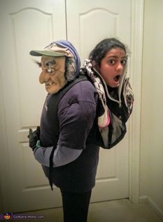 Carried in a Backpack Illusion Halloween Costume Idea
