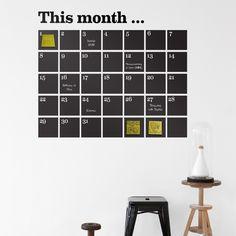 déco chambre enfant en stickers muraux - calendrier de design original