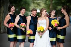 July Wedding, Wedding Bells, Dream Wedding, Wedding Stuff, Fireman Wedding, Firefighter Wedding, Royal Blue Bridesmaid Dresses, Wedding Bridesmaids, Wedding Attire