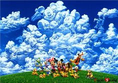 """Tenyo Jigsaw Puzzles 2000 Pieces """"Mickey's Cloud Play""""   $90  shipping 18$"""