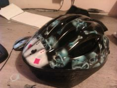 Road bike helmet, more skulls and Ace's