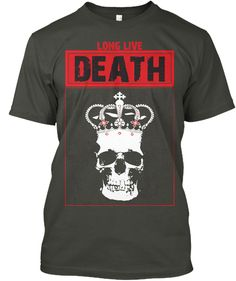 "LONG LIVE DEATH T-SHIRT is one of the most special Metalhead T-Shirts we have in our Metalhead T Shirt Store and Collection.  Long Live Death T Shirt is an exceptional design for heavy metal, black metal, music, rock music, black magic, necromancy and horror stuff lovers. The Skeleton King under the remarkable slogan ""LONG LIVE DEATH"". A Must Have item for metal artists, musicians and lovers. Add it to your collections before its too late! LONG LIVE METAL!  All sizes are available with…"