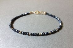 Mystic Black Spinel 14k Gold Filled Round Beads by MySequinEye