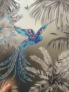 Matthew Williamson - Birds of Paradise - fuchsia, taupe, jade. Matthew Williamson, John Lewis, Taupe, Paradise, Birds, Bedroom, Beige, Bird, Bedrooms