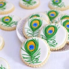 Peacock Feather Cookies