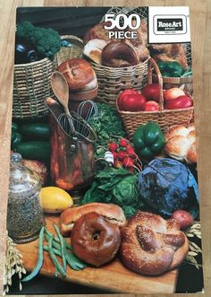 Vintage RoseArt 1989 'Broccoli to Bagels' 500 Piece Jigsaw Puzzle NEW #RoseArt