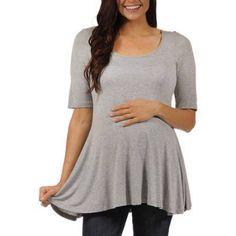24/7 Comfort Apparel Women's Maternity 3/4-sleeve Tunic, Size: 1XL