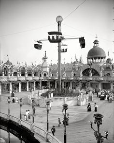 Whirl Of The Whirl - Coney Island, NY Circa 1905: I just like all the old timey clothes and ornate details.